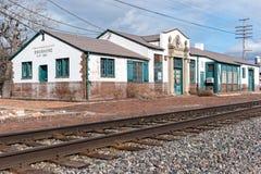 老肖松尼人,爱达荷火车站 库存图片