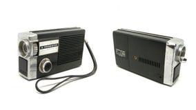 老肮脏的三洋电机6晶体管在白色背景的式样6C-351 图库摄影