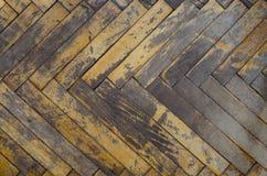 老肮脏的木条地板 库存图片