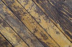 老肮脏的木条地板 库存照片