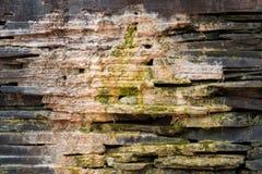 老肮脏的石墙 库存图片