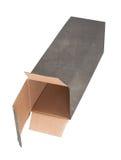 老肮脏的纸板箱 库存图片