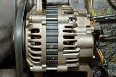 老肮脏的马达引擎 库存图片
