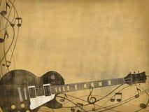 老背景吉他 库存图片