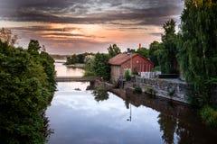 老能源厂在Vanhankaupunginkoski,赫尔辛基,芬兰 免版税图库摄影