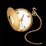 老腰带手表 免版税库存图片