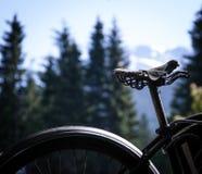 老自行车位子 免版税库存图片