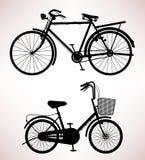 老自行车详细资料 免版税库存照片