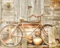 老自行车,葡萄酒自行车 图库摄影