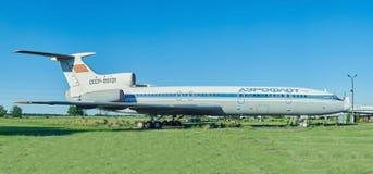 老航空器图-154图波列夫 免版税图库摄影
