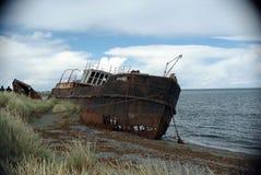 老船在智利 免版税库存照片
