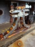 老船坞起重机细节  库存图片