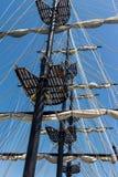 老船的索具 免版税库存照片