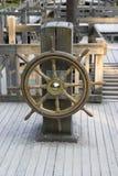 老船舵 库存照片
