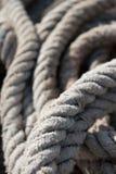 老船舶绳子 免版税库存图片