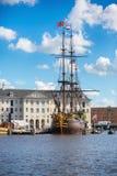 老船,阿姆斯特丹 库存图片