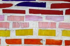 老色的墙壁瓦片 免版税图库摄影