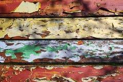 老色的多彩多姿的油漆板 免版税库存图片