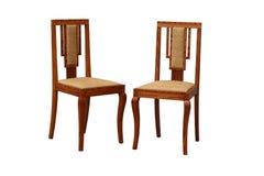 老艺术装饰椅子 免版税库存照片