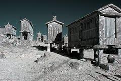 老花岗岩玉米谷仓 库存照片