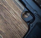 老苏俄手枪,一部分的 免版税库存照片