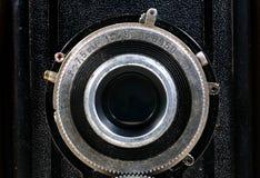 老苏维埃Ljubitel摄影照相机关闭,在1955年被制造的aproximative 库存照片