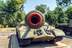 老苏维埃WW2坦克 库存图片