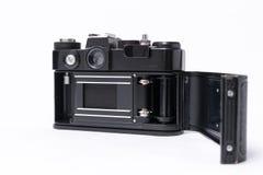 老苏维埃Zenit TTL 35 mm在白色隔绝的影片照相机 免版税库存图片