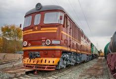 老苏联内燃机车 库存图片