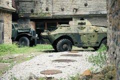 老苏联军用苏联车 库存图片