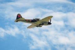 老苏联军用飞机Il2 免版税库存图片