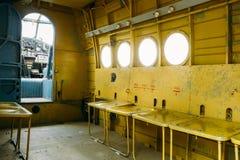 老苏联平面Paradropper航空器客舱  库存照片