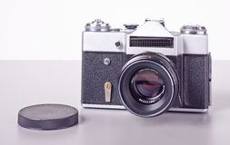 老苏联影片SLR照相机 图库摄影