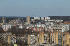 老苏联时代在维尔纽斯安置全景 免版税库存图片