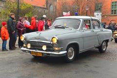 老苏联汽车伏尔加河GAZ-21 免版税库存照片
