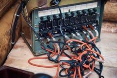 老苏联电话交换机 免版税库存图片