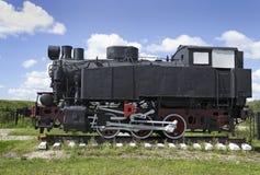 老苏联转轨的机车 库存照片