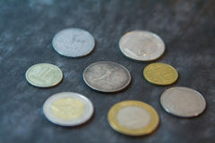 老苏联` s硬币 免版税库存照片