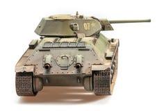 老苏维埃T-34坦克模型  库存图片