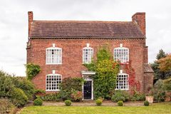 老英国乡间别墅,渥斯特夏,英国 库存图片