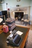 老英国办公室内部  老庭院教育中心 免版税库存照片