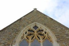 老英国哥特式教会细节 免版税库存照片