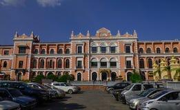 老英国宫殿在加德满都,尼泊尔 库存照片