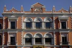 老英国宫殿在加德满都,尼泊尔 图库摄影