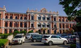 老英国宫殿在加德满都,尼泊尔 免版税库存照片