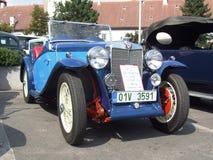 老英国敞蓬车, MG Magnette 免版税图库摄影