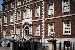 老英王乔治一世至三世时期房子前面  库存照片
