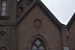 老荷兰教会在小镇 免版税库存照片