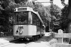 老荷兰电车驾驶 免版税库存图片
