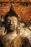 老菩萨雕象在Sukhothai历史公园 免版税库存图片